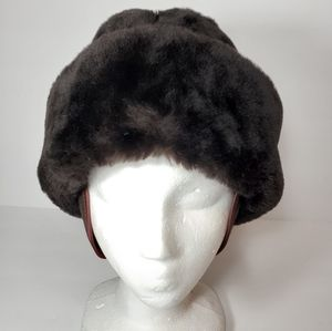 Vintage Mouton Lamb Hat Ear Flaps North King USA